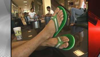 Don't wear flip flops for too long, unhealthy